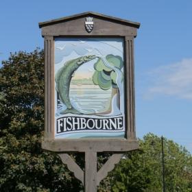 Fishbourne sign