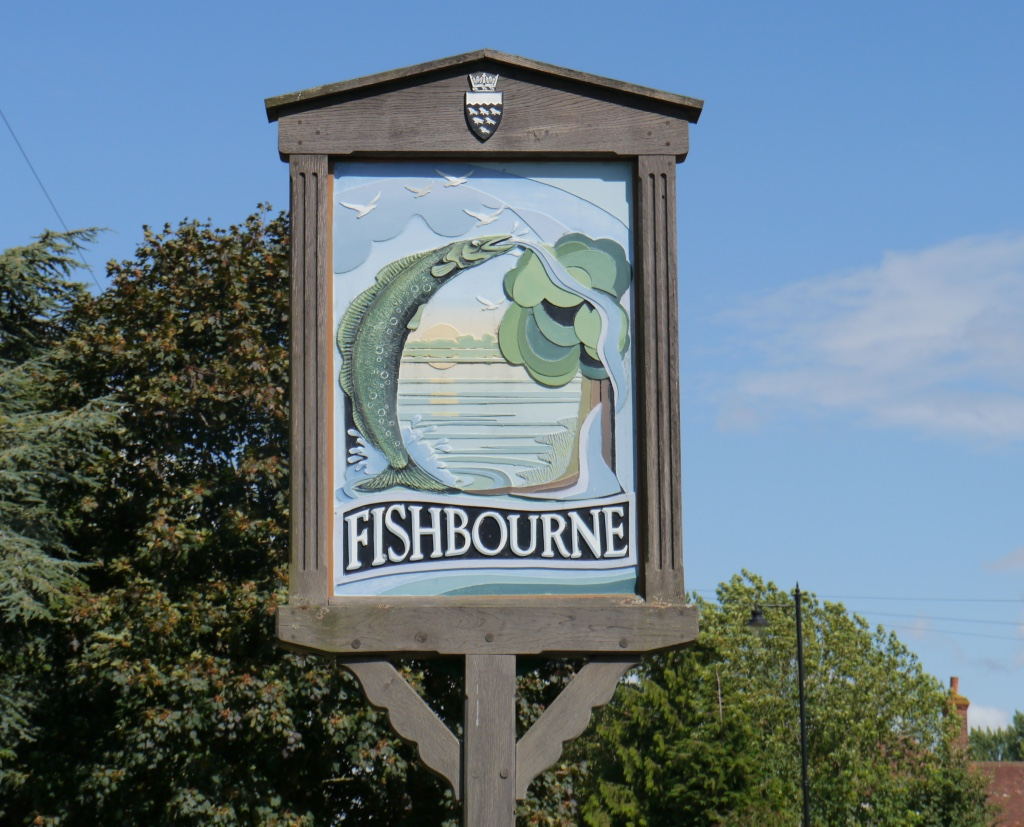 Fishbourne sign