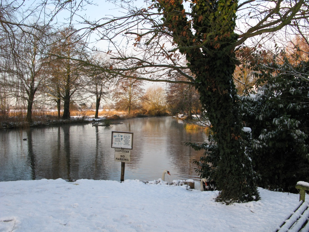 snowy millpond